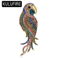 2 Colors Cute Carton parrot Brooch Pin scarf clip KULUFIRE S...