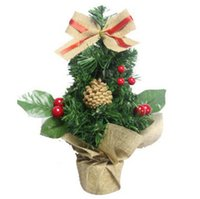 artificial tabletop mini christmas tree decorations festival miniature tree 30cm merry christmas decoration new year