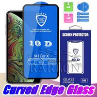 New 10D 9D 5D Ausgeglichenes Glas-Schirm-Schutz-Full Cover Schutzfolie für iPhone 11 Pro Max XS MAX XR 8 7 6s plus Mit Voll Kleber