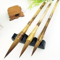 3 pçs / set chinês caligrafia escovas caneta artista pintura escrita desenho escova apto para escola estudante papelaria