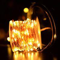 Cuerdas LED, 10m 33ft 100 LEDS USB CHEP COBRE STRING LIRSE LIGHTS FAILY LIGHT IMPERSHIBLE PARA EL FESTIVAL DE NAVIDAD Fiesta de la boda Decoración de la guirnalda