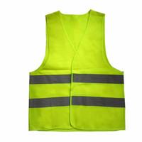 Reflektierende Weste Hohe Sichtbarkeit Fluoreszierende Outdoor-Sicherheit Kleidung Weste reflektierende Sicherheit Weste Lüften Weste