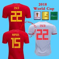 2018 Spain Jersey home Away Soccer Jersey 2018 world cup Spa...