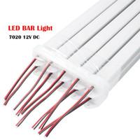 LED Bar Light 50 centimetri 36leds CC 12V ha condotto la striscia rigida di SMD 7020 tubo principale con profilo in alluminio e copertura del PC