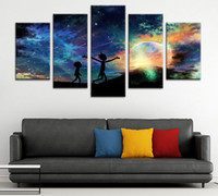 Rick and Morty Wall Decor Canvas Prints Art 5 Panels Poster ...
