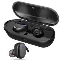 مصغرة التوائم بلوتوث اللاسلكية 5.0 سماعات أذن الرياضة للماء ستيريو سماعة في الأذن سماعات الأذن TWS مع شحن المقبس للهواتف الذكية