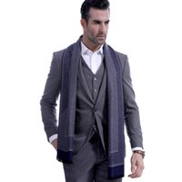 2018 autumn and winter men' s scarves, classic business ...