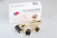3 in 1 derma roller 180 600 1200 needles stainless microneedle therapy dermaroller replacement needle head