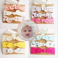 50lot Baby girl Headband hair accessories Knot Bows Bunny ba...
