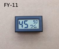 FY-11 -50-70C 10% ~ 99% RH Detecting Head RH Mini LCD Digital Thermometer Temperaturfeuchtigkeitszähler Aquarium Gauge Industrie Hygrometer