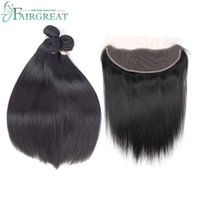 Fairgreat Human Hair Malaysian Straight Hair Bundles With La...