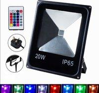 RGB 10W 20W 30W 50W светодиодный прожектор прожекторы наружная безопасность с дистанционным IP65 наружное освещение для сада двор LLFA