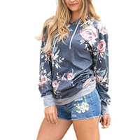 Hooded Hoodies Women 2018 Autumn Fashion Pullovers Print Flo...