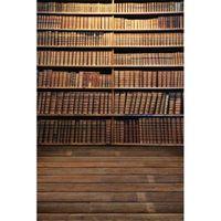 Fondali di fotografia dello scaffale della scuola dei libri d'annata dei libri Ambiti di provenienza dello studio della foto dei bambini della stagione di graduazione stampati Digital