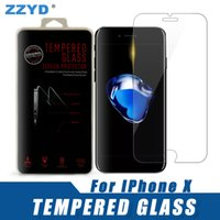 ZZYD For iPhone X 8 7 plus Tempered Glass 0. 26 mm Flim Scree...