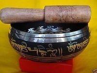 """trasporto libero 4.5 """"parole tibetane mantra buddismo fortunato canto ciotola martellata a mano martello antico giardino decorazione in ottone argento"""