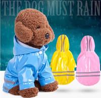 كلب في الهواء الطلق معطف واق من المطر ماء الكلب معطف المطر سترة عاكسة في الظلام ملابس ضد المطر ملابس لالكلب كبير معطف واق من المطر