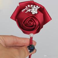 수제 신부 들러리 리본 가짜 꽃 절묘한 결혼식 신부의 장식 신부 꽃다발 고교 꽃 멀티 컬러 패션 5 45tt ii