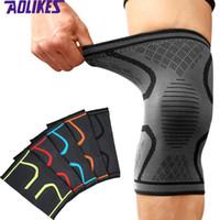 AOLIKES Knee Support Joelheiras Brace Joelheira Ginásio Levantamento de peso Wraps Bandage Straps Guarda Luva De Compressão Brace