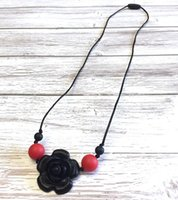 Silicone Teething Necklace for Mom to Wear Flower Pendant Te...