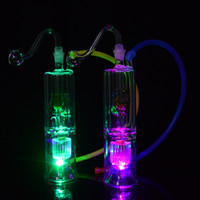 LED Bong Glass Oil Rig 10mm Glass Bowl Dab Rigs 6. 3inch Smok...