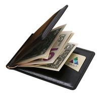 Billetera con clip de dinero para hombre con monedero Monedero con monedero para hombre con ranura para tarjeta