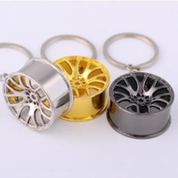 Metal Wheel Hub Key Rings Auto Sports Car Wheel Key Rings Ke...