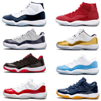 11 hombres Zapatillas de baloncesto 11s UNC University Blue Navy Gum Blue Metallic Gold Varsity rojo concord legend gamma blue 72-10 zapatillas 36-47
