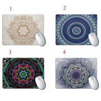 Gaming Mouse Pad Mat Rectangle Geometric Pattern Printed Ant...