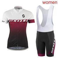 Летний Скотт Женщины Велоспорт Джерси нагрудник / шорты набор MTB Bike Одежда дышащая велосипедная одежда короткая майлот Culotte Y21031911