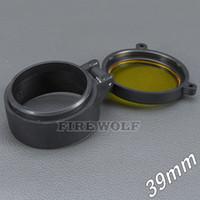 39mm 손전등 커버 스코프 커버 라이플 스코프 렌즈 커버 내부 직경 39mm 투명한 노란색 유리 사냥