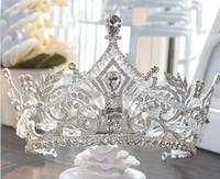 2019 Nuovo arrivo di alta qualità corone da sposa bling bling cristalli copricapo corona di nozze corona da sposa tiara accessori per feste di nozze