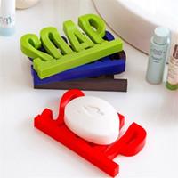 Lettre Forme savon Porte-plat creux design non Résidu avec du savon eau éponge Shelf débris de stockage