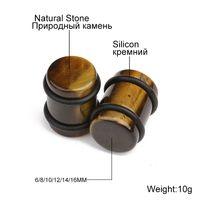 Xinyao 6-16mm natursten öronproppar tunnlar opaler tiger ögon turkos organiska öron mätare expander kvinnor män kroppspircing
