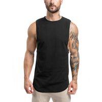 Altınları Spor Salonları Marka Atlet Canotte Vücut Stringer Tank Top Erkek Spor T Gömlek Kas Adamlar Kolsuz Yelek Tanktop Toptan