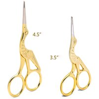 Fashion Retro Silver Golden Stork Sewing Scissors Trimming D...