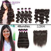 Brazilian Straight Body Wave Human Hair Extensions 4 Bundles...