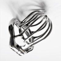 Мужское Целомудрие устройство из нержавеющей стали Co Ca с дугообразной Cock Ring Катетер Шипастого кольцо БДСМ секс-игрушка для мужчин Penis Кейджа
