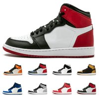 Mens 1 OG Basketball Shoes Chicago Banned Black Red White su...
