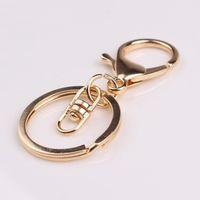 Haute Qualité Mode Or Argent Porte-clés Bague DIY Bijoux Fabrication Accessoires Pièces Sac Charmes De Voiture Porte-clés Porte-clés