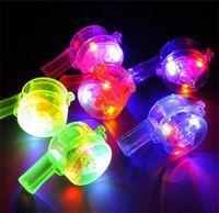 LED Light Up Flash Whistle intermitente Multi Color Juguetes para Niños Accesorios de Pelota Favores de Fiesta Suministros Festivos Color Puro 1 15lh bb