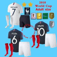 Adult kits+ sock Champion GRIEZMANN MBAPPE POGBA frances socc...