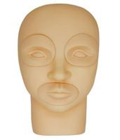 1 pcs Silicone Lábios Sobrancelha Prática Facial Prática de Tatuagem Pele Falso Formação Pele para Permament Maquiagem Microblading