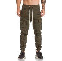 BINHIIRO 2018 nouveaux pantalons camo hommes armée automne grande poche camo hommes joggeurs pantalons de survêtement coton confortable pantalon tactique 2