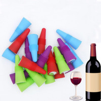 Silicone Reusable Wine Bottle Stoppers Grip Stainless Steel ...