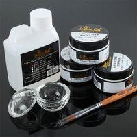 Kit de uñas de acrílico profesional Nail Art Set acrílico líquido en polvo pluma Crtsyal Cup Diy Manicure Tool