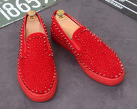 2018 wholesale Wholesale New Red Bottom Mens women Casual Sn...