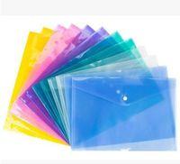 ملف مجلد بلاستيكي الشفاف ملف a4 hasp زر