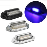 1x 6LED Number License Plate Tag Light Universal For Boat RV...
