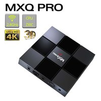 MXQ Pro Android 7.1 TV Box S905W Quard Core 1G + 8G Wi-Fi embarqué UHD 4K Lecteur multimédia Android Smart TV Box avec emballage